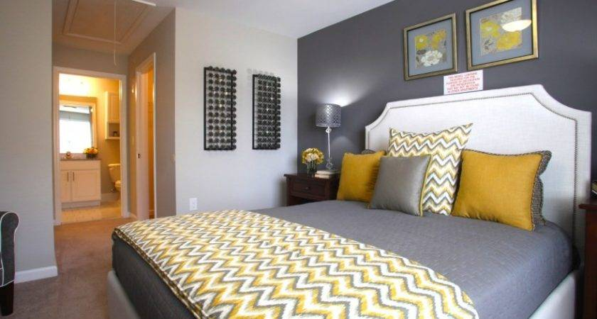 Yellow Grey Bedroom Idea Chevron Throw Love