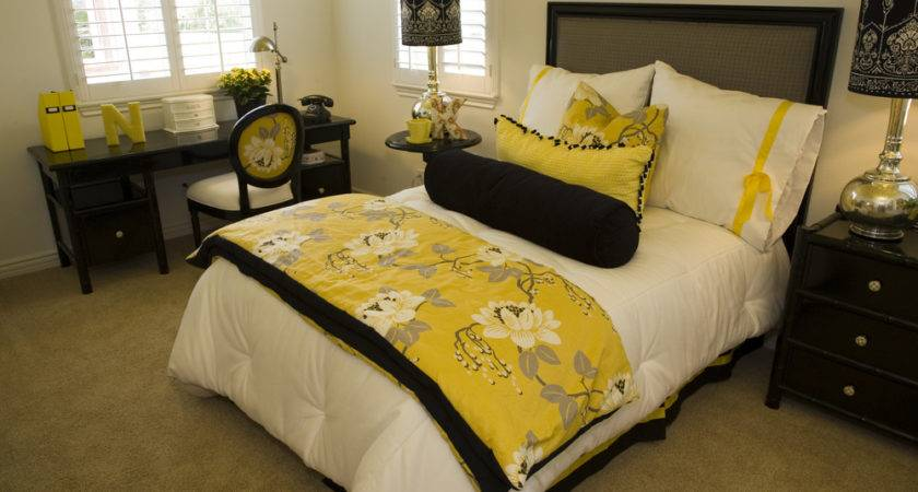 Yellow Purple Bedroom Ideas Home Attractive