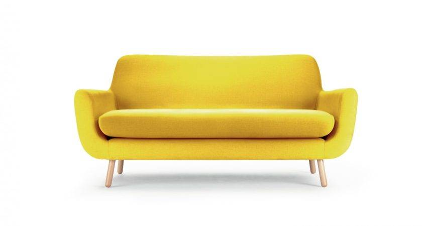 Yellow Sofa Design Around Living